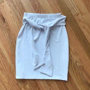 Dresses & Skirts - White tie wrap skirt